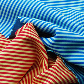 Spandex Fabric, Heather/Stripe Reversible Interlock for Sports or Leisure Wear