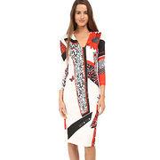 Women's chiffon dress from China (mainland)