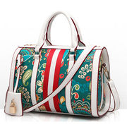 Hong Kong SAR PU leather handbags,printing pillow PU Europe styles with long straps, OEM/ODM orders are welcome