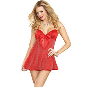 Wholesale Red Mesh Sparkle Babydoll, Red Mesh Sparkle Babydoll Wholesalers