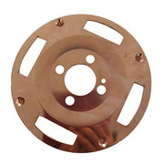 China CNC machining precision brake disc for car stainless steel, OEM factory with lasered custom logo