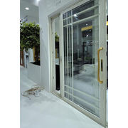 Aluminium and wood frame glass sliding door from China (mainland)