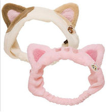 Customized plush pink cat hair band from China (mainland)