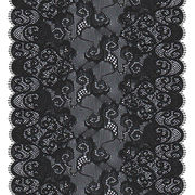 18cm Exclusive Handcut Black Lace Trim from China (mainland)