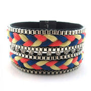 Nation Style Leather Bangle from China (mainland)