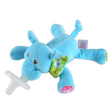 High quality infant plush animal toys with nipples