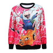 Men's fashionable long sleeved sweater, sublimation print