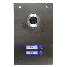 Video Intercom System with HD Camera, Made of Stainless Steel Material, Cable for Doorphone
