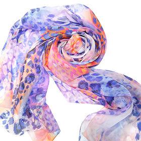 Silk Chiffon Digital Printed Scarf, Measures 180 x 50cm