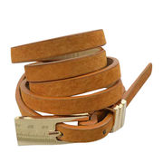 Skinny genuine leather belts from China (mainland)
