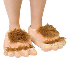 Funny big feet plush slippers for lover's gift