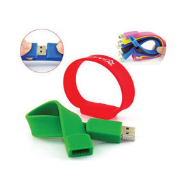 Popular Promotional Silicone Bracelet USB Flash Drive with Customized Logo from Memorising Tech Limited