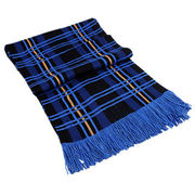 Style checked Scarf with fringe from Hangzhou Willing Textile Co. Ltd