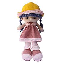 Pink cloth kids' plush doll, customized accepted from Dongguan Yi Kang Plush Toys Co., Ltd