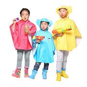 China Nylon+PU Children's Rainwear Poncho for Kids