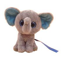 Lovely elephant with big eyes plush animal toy, customized accepted