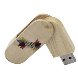 Popular Gift USB/Eco-friendly Wooden Swivel USB Flash Drive in Customized Logos from Memorising Tech Limited