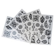 China Single Color Tattoo Stickers, Available in Various Designs and Sizes