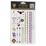 China Fashion Metallic Temporary Tattoo Sticker With Various Sizes and Designs