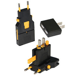 Universal AC Converter with Dual USB Adaptor for UK, Germany, Switzerland, Italy and China from UPO Technical Products Ltd