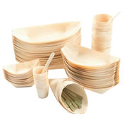 Easily Cleaned and Disposable Wooden Plate