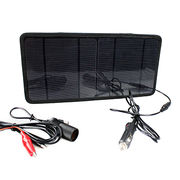 7W portable solar car battery charger from China (mainland)