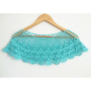 China Chic Crocheted Hollow Out Short Shawls, Come in 3 Colors, Custom Designs are Welcome