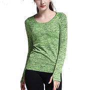 Women's sports tops in seamless design, stock and customized available