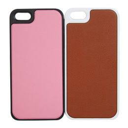 Leather cases for iPhone, TPU with PU surface, good hand texture