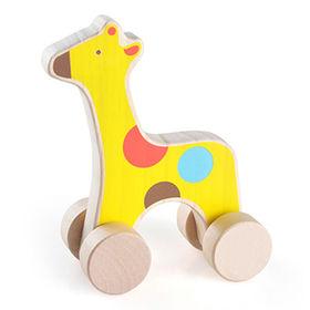 Children's wooden toy car