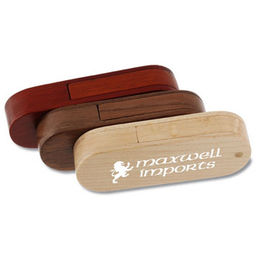 Popular Gift /Eco-friendly Wooden Swivel USB Flash Drive in Customized Logos from Memorising Tech Limited