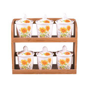 Ceramic Material 6 PCs Kitchen Canisters Set from China (mainland)