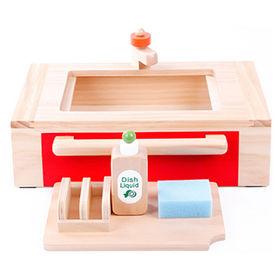 China Kids' toy wooden kitchen sink