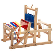 China Kids' wooden weaving loom toy