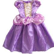 Rapunzel Coplay Tangled 2015 Children Kids Dress Purple Princess Costume