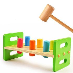 Baby wooden toy hammer