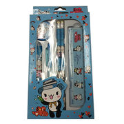China School stationery set with pencils pen ruler glue and sharpener