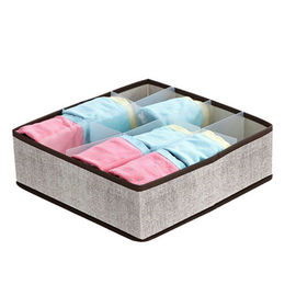 Lady's underwear storage drawer, used in wardrobe, made of blend weaving fabric