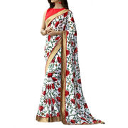 Dainty Linen Multiple Color Designer Saree from India