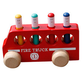 Kid's wooden bus toy from China (mainland)