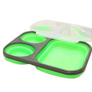 900ML+200ML+200M collapsible air tight lunch box from China (mainland)