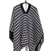 Women's cashmere knit poncho from Inner Mongolia Shandan Cashmere Products Co.Ltd