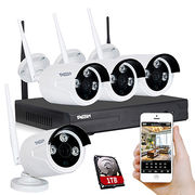 Hot selling wireless NVR Kit Wifi NVR and WIFI ip camera auto connection, p2p, long signal distance