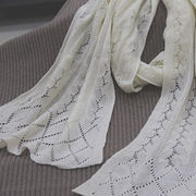 Cashmere knit scarf from Inner Mongolia Shandan Cashmere Products Co.Ltd