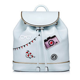 PU Leather Daypack Daily Use Backpack Ladies Bucke Manufacturer