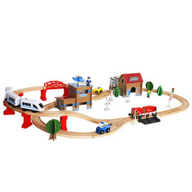 Kids wooden electric toy train sets from China (mainland)