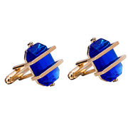 New Arrival and High-end Crystal Cufflinks with Metal Fixed, Comes in Different Colors for Crystal