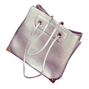 Hong Kong SAR PU leather handbags with strong handle high-capacity and customized welcomed