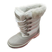 Ladies' fashion white snow boots from China (mainland)