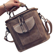Hong Kong SAR PU leather shoulder bags with strong straps, high-capacity, customization is accepted